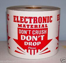 250 3x3 ELECTRONIC MATERIAL Dont Crush Dont Drop Label
