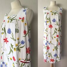 True Vintage Late 70's/Early 80's Terry Towel Floral Summer Dress