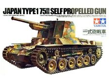 Tamiya WWII Japanese Type 175mm Self Propelled Gun tank model kit 1/35