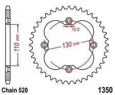 KR Kettenrad 39 Z Teilung 520 HONDA TRX 250 R Fourtrax 86-92 ... Rear sprocket