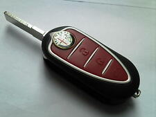 GENUINE ALFA ROMEO TRANSPONDER 33 147 156 ETC 3 BUTTON REMOTE FLIP UNCUT KEY FOB