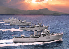 HONG KONG DRAGON SQUADRON - 5 x Ton Class Minesweepers  - LIMITED EDITION ART 25