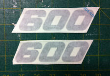 Loghi Yamaha TT 600 1984/85 neri opachi - adesivi/adhesives/stickers/decal