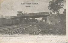 Oneonta NY * Main St. Viaduct 1907 * RR Cars & Tracks * Otsego Co.