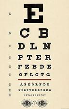 Incorniciato stampa-Antico Eye grafico (immagine poster SNELLEN OTTICO Occhiali test)
