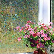 3D Static Cling Home Window Film Stained Glass Paper Frosted Decor Privacy SE#N