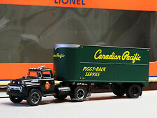 LIONEL CP SEMI-TRACTOR & 20' PIGGYBACK TRAILER o gauge train truck 6-81904 NEW
