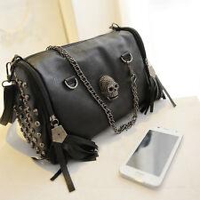 Skull Rivet Taschen Damentasche Handtasche Schultertasche Umhängetasche Mode