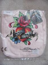 ED HARDY By Christian Audigier PALE PINK NESS TOTE BAG New and Sealed