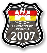 À wolfsburg umfang 2007 made in wolfsburg shield pour vw camper van autocollant voiture
