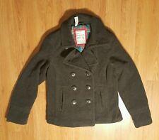 Aeropostale Women's Coat Charcoal Jacket Wool Blend SZ XL NWT!