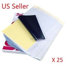25 x LOT Sheets Tattoo Carbon Thermal Transfer Stencil Paper 8.5''x11''