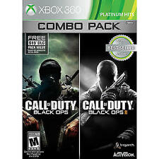 Call of Duty Black Ops 1 + 2 II COMBO XBOX 360 NEW! WITH FIRST STRIKE MAP PACK!