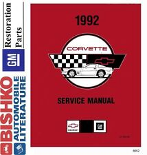 1992 Chevrolet Corvette Shop Service Repair Manual CD Engine Drivetrain Wiring