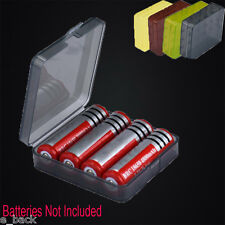 Portable Hard Plastic Battery Case Holder Storage Box for 4x18650 Batteries