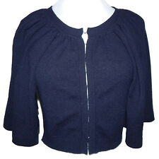 Autumn Cashmere Adorable Navy Blue Cropped Sweater size Small