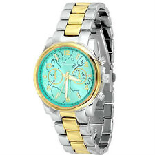 New Geneva Metal Bracelet Globe Dial Boyfriend Style Women's Watch