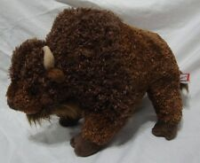 Buffalo Bison Plush Toy Douglas Cuddle Stuffed Animal Brown Wood Badge Critter