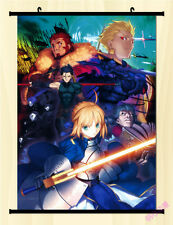 "8""*12"" Home Decor Japan Anime FATE ZERO SABER LILY Wall Poster Scroll Cosplay B"