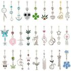 Lot 10pcs different styles of belly rings body piercing jewelry