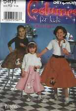 SEWING Patterns COSTUME SOCK HOP POODLE Kitty Cat SKIRTS  Sz 7 - 14 Childs