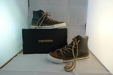 Converse black and brown leather sneakers size unisex 4, EU 36.5