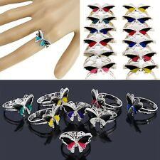 10Pcs Fashion Butterfly Ring Emotion Feeling Color Changing Mood Ring Wholesale