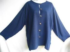 TIENDA HO~BLUEBERRY~WOVEN SUSTI~Mali Top~TEXTURAL~Double Layered~OS (M L XL?)