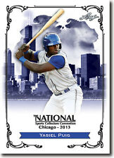 YASIEL PUIG - 2013 Leaf National Sports Convention PROMOTIONAL Card