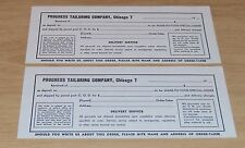 "VTG ca 1950 ADVERTISING ""Business Receipts"" PROGRESS Tailoring Company~CHICAGO"