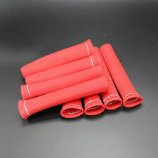 RED 1200° SPARK PLUG WIRE BOOTS HEAT SHIELD PROTECTOR SLEEVE SBC BBC 350 454