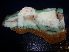 "Chrysoprase ( Chrysophase)- slab-- 6 3/8 "" x   3 3/4 ""--- rough-cabbing--display"