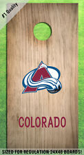 Colorado Avalanche Corn Hole Bag Toss High Quality Decals HD - Full Set