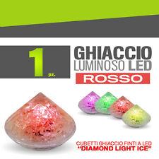 GHIACCIO LUMINOSO DIAMOND LIGHT ICE ROSSO discoteca piscina night club 31075