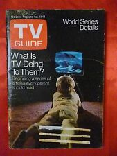Texas October 11 1969 TV Guide WHAT IS TV DOING TO KIDS Copperfield Buddy Epsen
