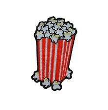 Patch embroidered iron on cloth badges kawaii biker popcorn pop corn applique