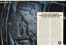Publicité Advertising 1987  ( Double page )  Nouvelle BMW 324  td