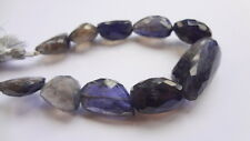 """10-25mm Graduated Natural Iolite Faceted Nugget Gemstone Beads, 7"""" Strand"""