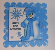 PK 2 BABY BOYS 1ST CHRISTMAS EMBELLISHMENT TOPPERS FOR CARDS AND CRAFTS