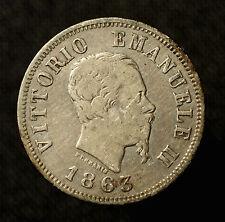 Kgr. Italien, Vittorio Emanuele II., 50 Centesimi 1863 M