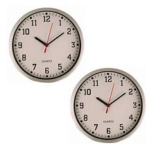 2x Large Vintage Round Modern Home Bedroom Retro Time Kitchen Wall Clock Quartz