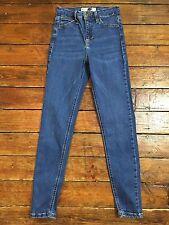 Jamie Topshop Moto Skinny Jeans Azul Talla 6 W25 para adaptarse a L32 Rb71 defecto