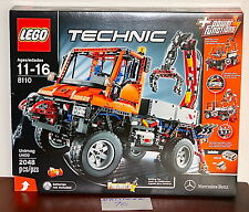 NEW SEALED LEGO 8110 TECHNIC UNIMOG U400 MERCEDES BENZ OFF ROAD TRUCK CRANE