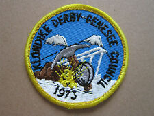 Klondike Derby Genesee 1973 BSA Woven Cloth Patch Badge Boy Scouts Scouting