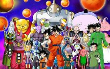 Poster A3 Dragon Ball Super Goku Vegeta Piccolo Krilin Goten Trunks Gohan