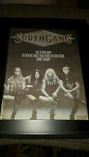 SouthGang Fire In Your Body Rare Original Radio Promo Poster Ad Framed!