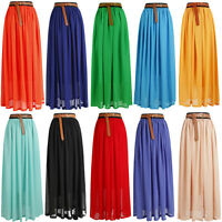 HOT !SALE ! Women, Girls Chiffon pleated Long Maxi Skirt Vintage Dress Retro-L1