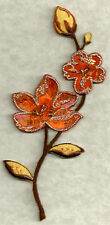 Flowers Autumn Colors/W/Beads Embroid Iron On Applique