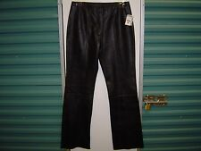 SEXY BLACK LEATHER PANTS *NEW WITH TAGS* WILSON'S MAXIMA WOMEN'S SIZE 12 LINED