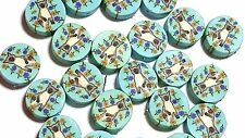 New 25 Siamese Cat Flowers Polymer Clay Coin Round Fimo Beads Free Shipping 12mm